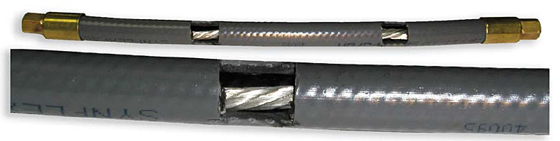 Figure 7 - Hose cutaway to show power cable