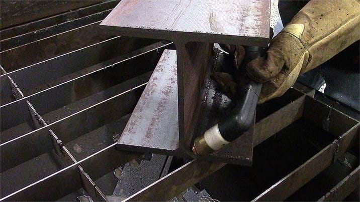 FlushCut process on structural steel
