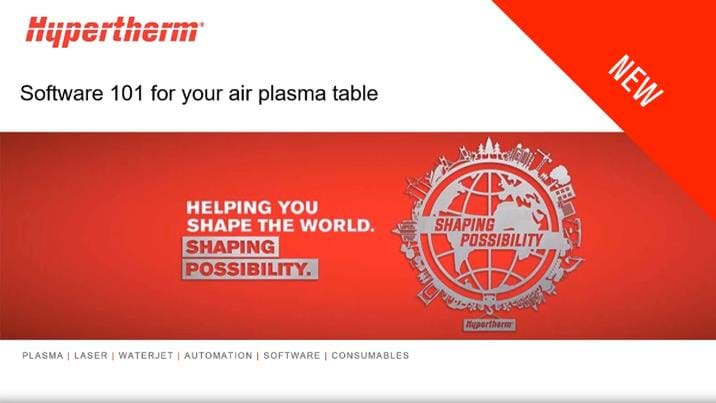 Software 101 for your air plasma table
