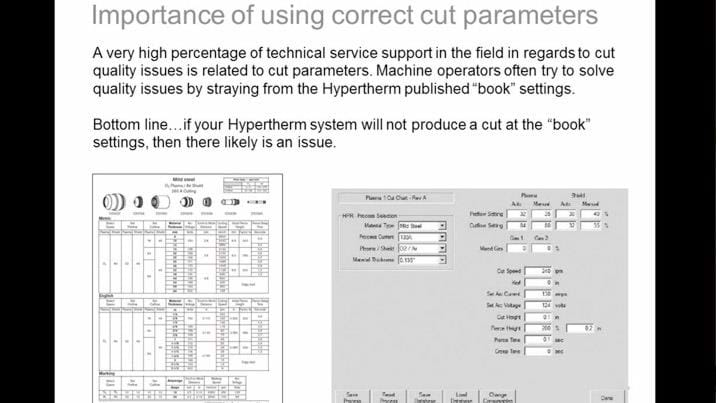 Optimize your system for better cut quality