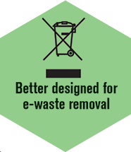 Designed for e-waste removal