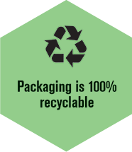 Packaging is 100% recyclable