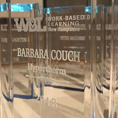Hypertherm receives Work Based Learning Award