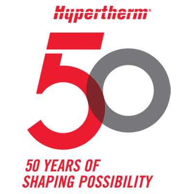 Hypertherm 50 years of Shaping Possibility logo