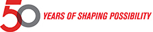 50 years of Shaping Possibilities logo