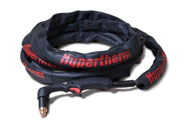 The Hypertherm leather torch sheath provides additional protection for torch leads against cuts, burn-through and abrasion