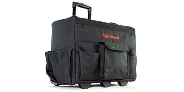 Hypertherm rolling tool bag for protesting and transporting plasma cutting systems and accessories.