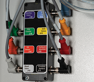 Color-coded junction box on HyPrecision Predictive pumps